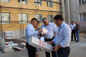 Vizita reprezentanților ADR Nord la renovarea Centrului de sănătate Drochi
