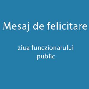"""Mesajul de felicitare a domnului Ion Dascal, preşedintele raionului Drochia, consacrat evenimentului ,,Ziua funcţionarului public"""""""
