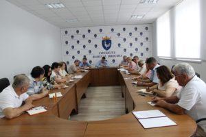 Ședinţa lărgită pe lângă preşedintele raionului, convocată şi prezidată de Ion Dascal preşedintele raionului Drochia.