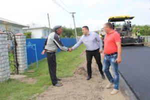 Lucrări de reparație și a drumului din satul Drochia