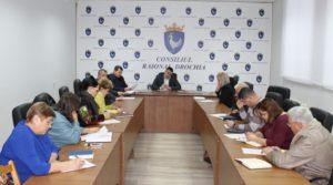 Ședința de lucru cu funcționarii publici din aparat și reprezentanții subdiviziunilor subordonate Consiliului raional Drochia