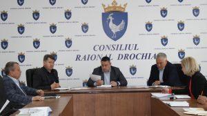 Şedinţă lucrativă la Consiliul raional Drochia