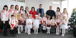 Colindători de Revelion la Consiliul raional Drochia
