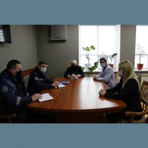 Vizita de lucru a Generalului Mihail HARABAGIU, Şef, Inspectoratul General pentru Situaţii de Urgență al MAI în raionul Drochia