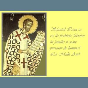Mesaj de felicitare către cei ce poartă numele Sfîntului Ioan Botezătorul!
